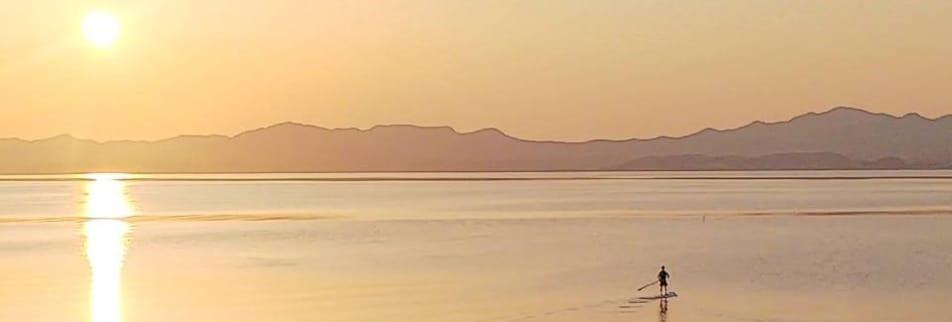 [松江サップ&カフェ]❤しんじ湖で夕日を見ながらSUP体験/SUPのあとはカフェでお茶をどうぞ/